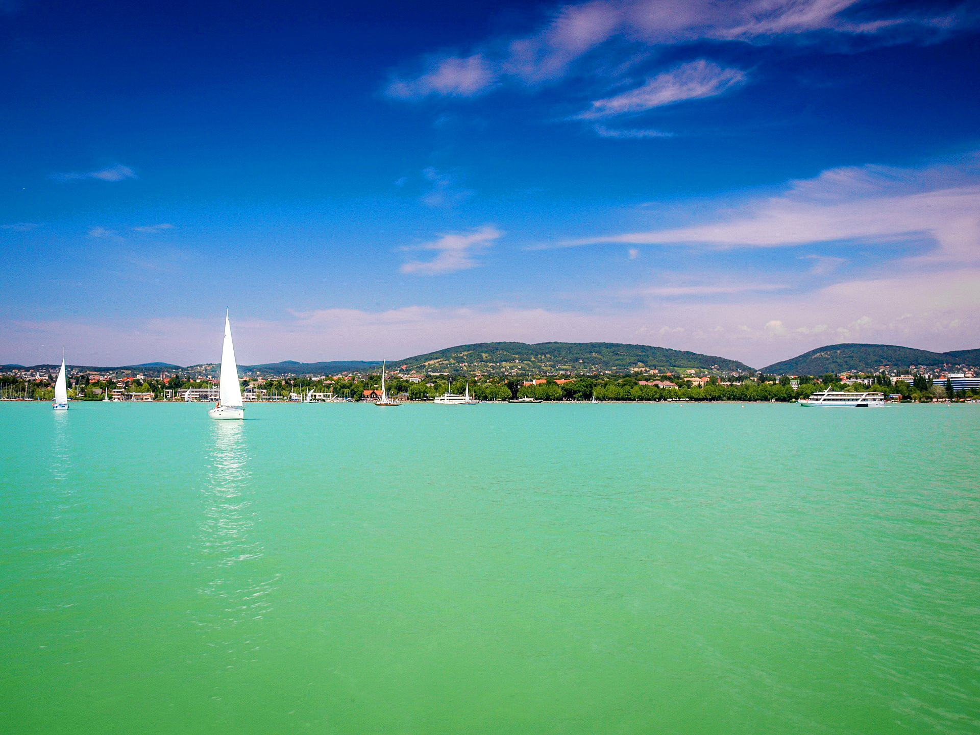 the lake balaton by - photo #15